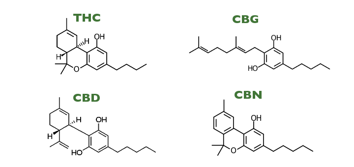 Chemical compounds thc cbd